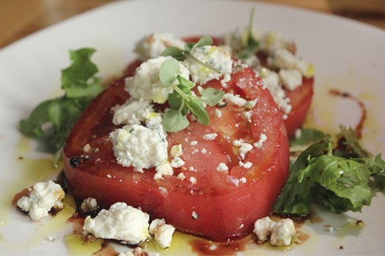 Local tomato salad with Maytag blue cheese | Nancy Stiles