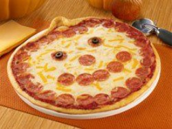 The Jack-O-Lantern pizza: It's very real. - IMAGE VIA
