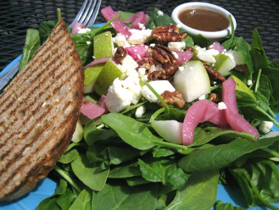 The Grounds salad from Foundation Grounds. - REASE KIRCHNER