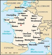 The red dot is the approximate location of Mareuil-sur-Cher.