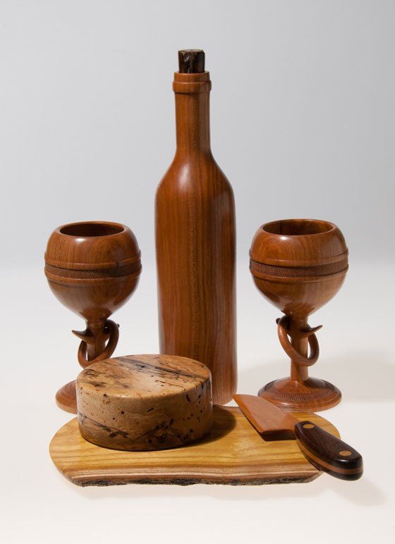 Wooden Wine and Cheese   Scott Schlapkohl