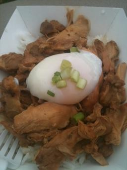 Chicken adobo with a one-hour egg, Guerrilla Streetfood. - ROBIN WHEELER