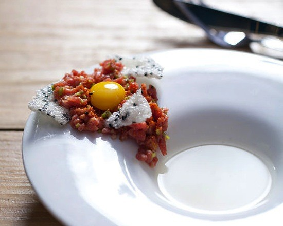 The steak tartare with daikon consommé at Little Country Gentleman - JENNIFER SILVERBERG