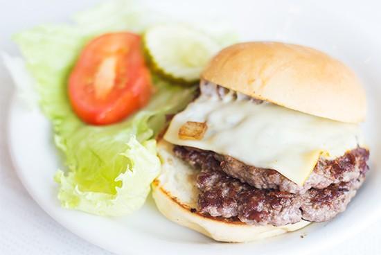 The double griddle burger. | Mabel Suen