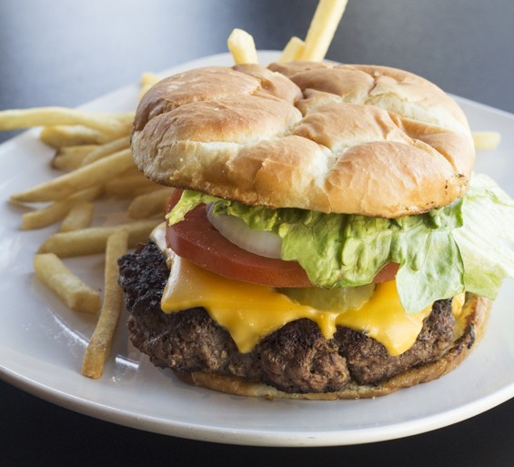 The cheeseburger and fries.   Mabel Suen