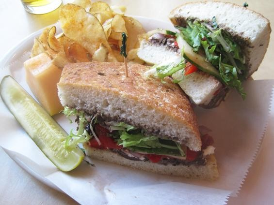 "The ""Morganford Mediterranean"" sandwich at Local Harvest - IAN FROEB"