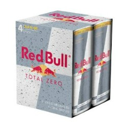 Red Bull Total Zero cans resemble toxic-waste containers. - IMAGE VIA