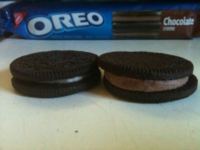 Ebony and ivory Oreos. - ROBIN WHEELER