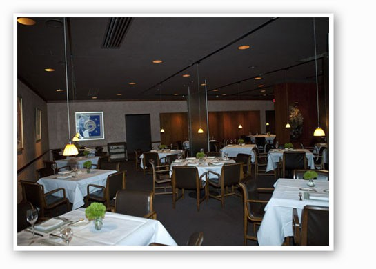 The dining room at Tony's.   Laura Miller