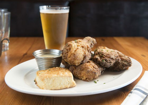 The fried chicken at participating restaurant Three Flags Tavern. | Jennifer Silverberg