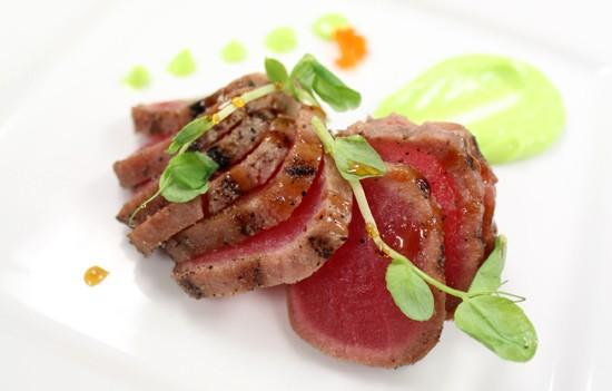 Chef Neil Al-Kobri's Tuna Sashimi plate. - MABEL SUEN