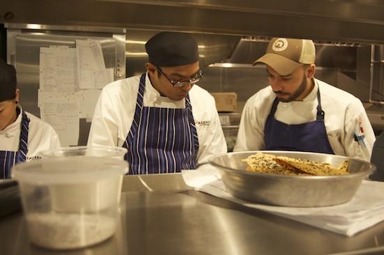 Wilfrin Fernandez-Cruz (right) in the Restaurant at the Cheshire kitchen - LIZ MILLER