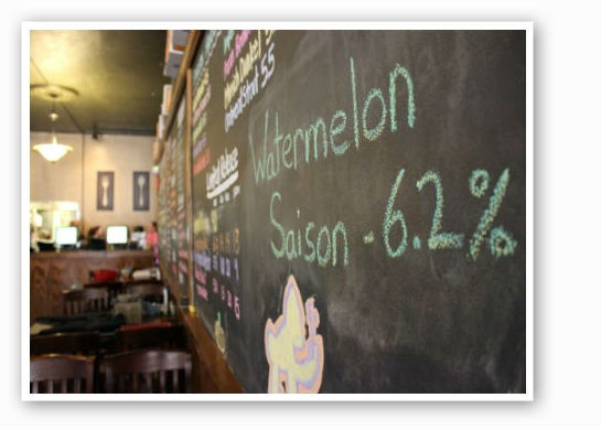 The old chalkboard with all the details -- Saison at 6.2 ABV | Pat Kohm