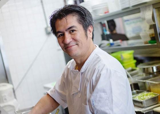 Nelson Padilla in the kitchen at Mi Linh. | Jennifer Silverberg