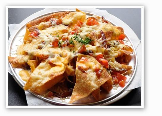 Wonton nachos at Plush.   Tara Mahadevan