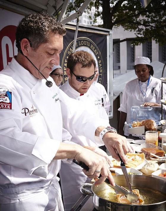 Chefs at work at Taste of St. Louis 2013. | Steve Truesdell