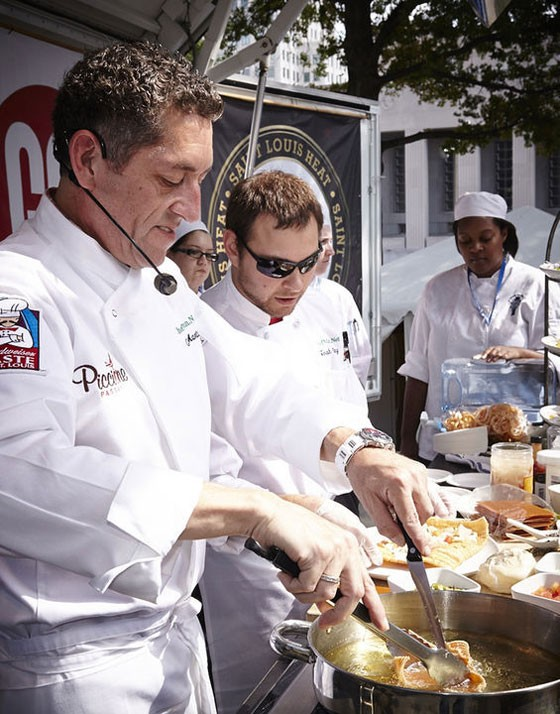 Chefs at work at Taste of St. Louis 2013. | Steve Truesdell