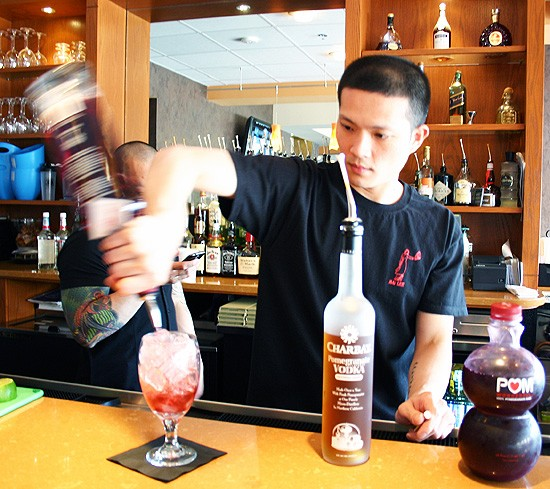 Jay Nguyen whips up a Mai Lee Songbird. - KATIE MOULTON