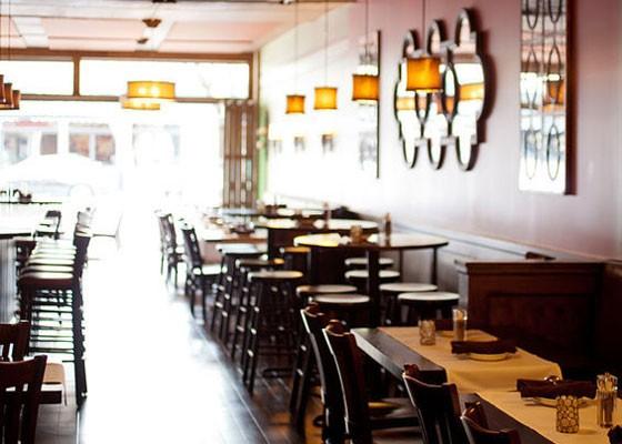 Inside the old Bocci Bar.   Jennifer Silverberg