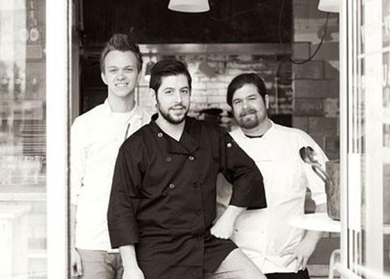 Ben Poremba, center, at Olio. | Jennifer Silverberg
