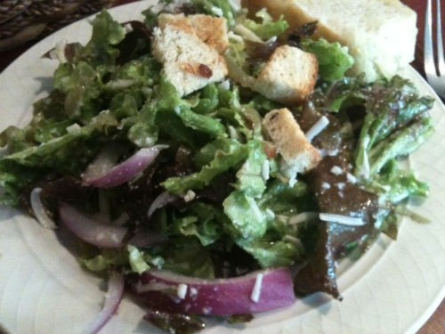 House salad at Ricardo's Italian Cafe - ROBIN WHEELER