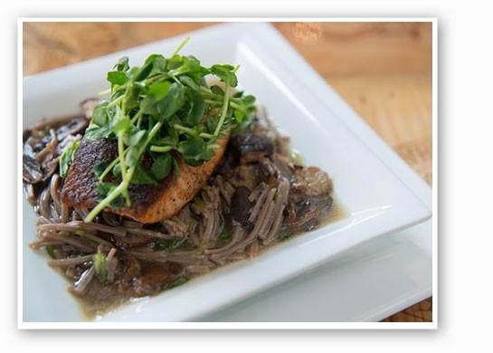 Porcini salmon at Robust. | Jennifer Silverberg