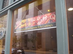 Sir's Bar-B-Q now open downtown. - IAN FROEB
