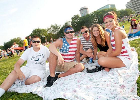 Patriotic people at Fair St. Louis 2013.   Jon Gitchoff