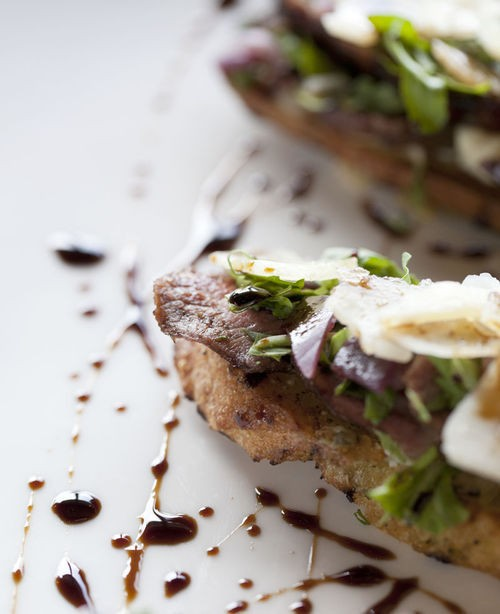 The steak bruschetta at EdgeWild - JENNIFER SILVERBERG