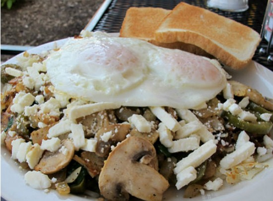 The Webster Skillet at Boardwalk Cafe. - REASE KIRCHNER