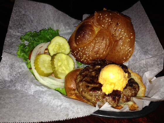 The classic burger at Blueberry Hill. | Cheryl Baehr