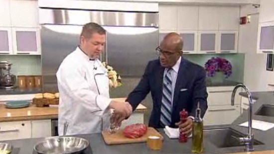 Wes Johnson in the Today kitchen with Al Roker