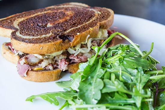 Element's Reuben sandwich with side salad. - ALL PHOTOS BY MABEL SUEN
