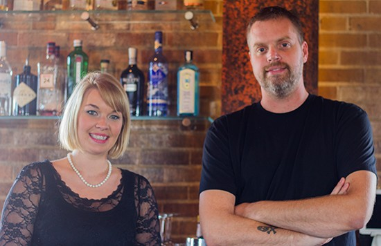 Beverage director Meghan French and executive chef Brian Hardesty.