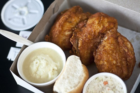 Fried chicken from Porter's Fried Chicken in Maplewood - SCOTT LAYNE