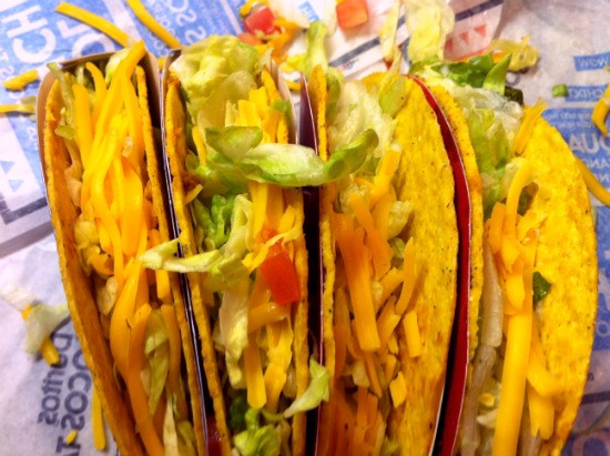 Getting up close and personal with Cool Ranch Locos tacos. - LIZ MILLER
