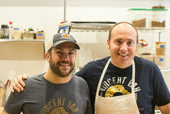 Chef-owner Vincent Marsden and Will Saulsbery.