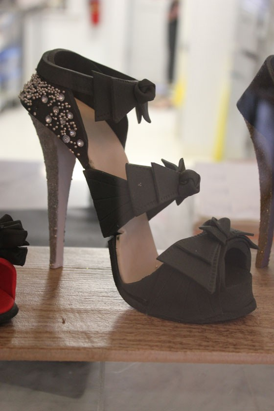 The shoes are about a size five, but you wouldn't want to wear them! | Nancy Stiles
