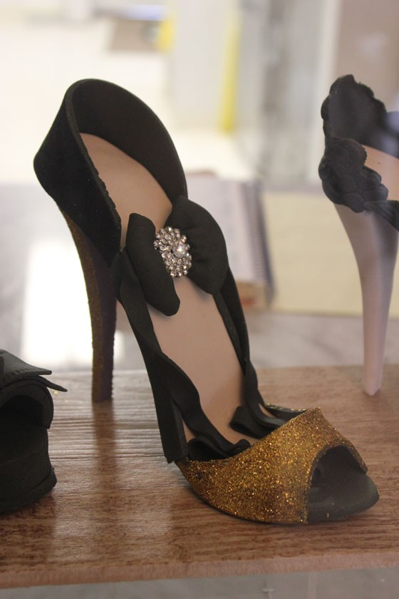 "The ""Mariah"" shoe, which pastry chef Patrick Devine is fit for a drag queen. 