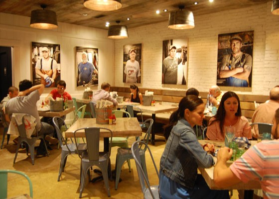 The back dining area.   Nancy Stiles