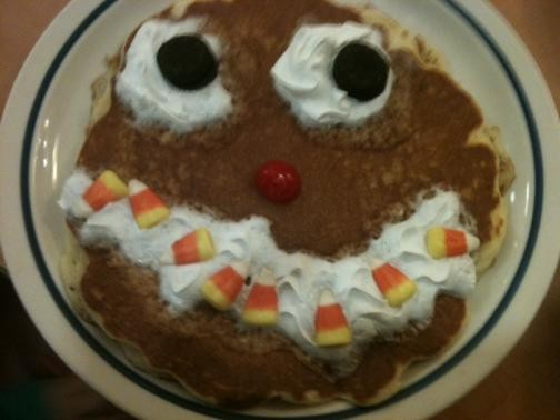 IHOP's Scary Face Pancake. - ROBIN WHEELER