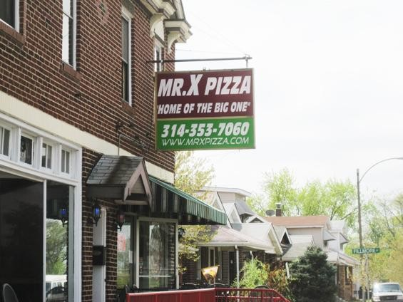 Mr. X Pizza on Morgan Ford Road in south city - IAN FROEB