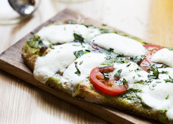 The Queen Margherita pizza. | Jennifer Silverberg