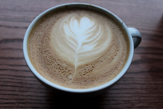A latte from Sump Coffee. - MABEL SUEN