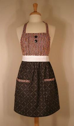 One of Gingerly Garnished's handmade aprons. - IMAGE VIA