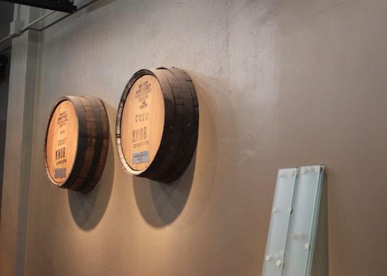 Knob Creek barrels decorate the walls. | Nancy Stiles