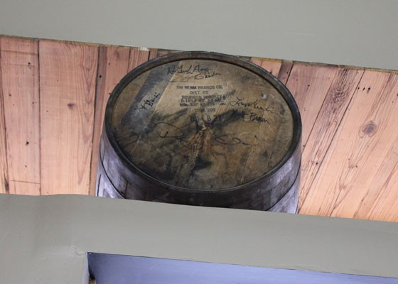 The Gamlins signed the barrel of whiskey they picked out in Kentucky. | Nancy Stiles