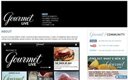 SCREENCAP: LIVE.GOURMET.COM