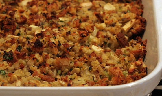 Stuffing is a Thanksgiving staple.   Maggie Hoffman