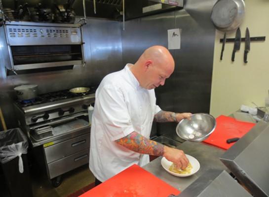 Balaban's new executive chef, D. Scott Phillips.   Balaban